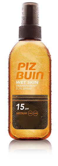Piz Buin Wet Skin Transparent Sun Spray SPF15 Olejek do opalania 150 ml