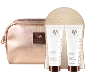 Vita Liberata Fabulous Self Tanning Tiented Lotion with Marula 100 ml Medium + 100ml Fabulous Illuminate Wash Off + Rękawica + Kosmetyczka
