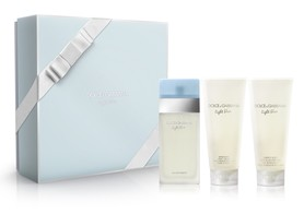 Dolce&Gabbana Light Blue woda toaletowa 100 ml + 100 ml Balsam + 100 ml Żel pod prysznic