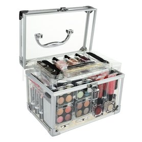 Makeup Trading Schmink Set Transparent Kuferek 76,6 g