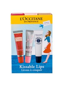 L´Occitane Roses Et Reines Balsam do ust 12 ml + Balsam do ust Shea Butter 12 ml + Balsam do ust Cherry Blossom 12 ml