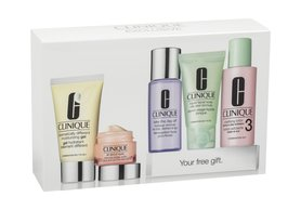 Clinique Daily Essentials Combination Skin 50ml DDM gel + 15ml All About Eyes + 30ml Liquid Facial Soap Mild + 60ml Clarifying Lotion 3 + 50ml Take the Day Off Makeup Remover