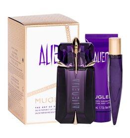 Thierry Mugler Alien Do napełnienia woda perfumowana  60 ml + Edp 10 ml + Mleczko do ciała 50 ml