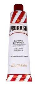 PRORASO Red Shaving Soap In A Tube Pianka do golenia 150 ml