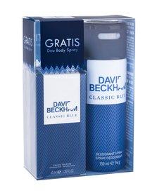 David Beckham Classic Blue woda toaletowa 40 ml + Dezodorant 150 ml