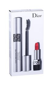 Christian Dior Diorshow Iconic Overcurl Tusz do rzęs Odcień 090 Over Black 10 ml + Pomadka Mini Rouge 999 1,5 g