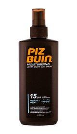 PIZ BUIN Moisturising SPF15 Ultra Light Sun Spray Preparat do opalania ciała 200 ml