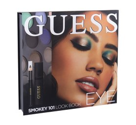 GUESS Look Book Eye Cienie do powiek 12 x 1,16 g + Tusz do rzęs Black 4 ml + Kredka do oczu Black 0,5 g + Lusterko