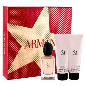 Giorgio Armani Si woda perfumowana 50ml + 75ml Body lotion + 75ml Żel