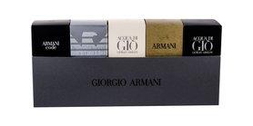 Giorgio Armani Mini Set 1 edt Code Pour Homme 4 ml + edt Emporio Diamonds 4 ml + edt Acqua di Gio 5 ml + edt Eau Pour Homme (2013) 7 ml + edp Acqua di Gio Profumo 5 ml