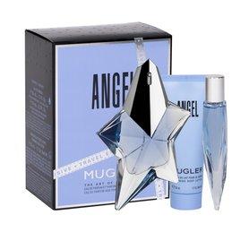 Thierry Mugler Angel Do napełnienia woda perfumowana 50 ml + Edp 10 ml + Mleczko do ciała 50 ml