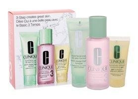 Clinique 3-Step Skin Care 3 50ml Liquid Facial Soap Oily Skin + 100ml Clarifying Lotion 3 + 30ml DDMGel