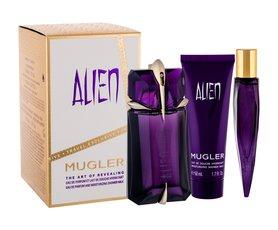Thierry Mugler Alien Do napełnienia woda perfumowana 60 ml + Edp 10 ml + Mleczko pod prysznic 50 ml