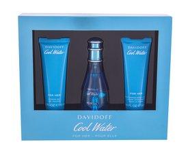 Davidoff Cool Water Woman woda toaletowa 50 ml + 50ml Balsam + 50ml Żel pod prysznic