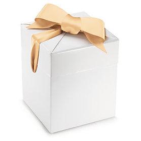 Ozdobne pudełko Białe z satynową wstążką 1 szt.
