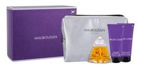 Mauboussin Mauboussin woda perfumowana  100 ml + Mleczko do ciała 100 ml + Żel pod prysznic 100 ml + Kosmetyczka