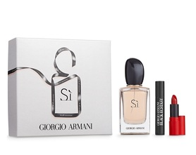 Giorgio Armani Si woda perfumowana 50 ml  + Tusz do rzęs Eyes To Kill Black Ecstasy 2 ml + Pomadka Rouge Ecstasy 400 1,5 ml