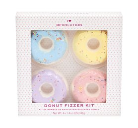 I Heart Revolution Bath Fizzer Set Donut Pianki do kąpieli 4 x 40 g