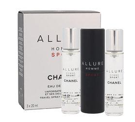 Chanel Allure Homme Sport Twist and Spray woda toaletowa 3x20 ml