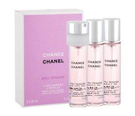 Chanel Chance Eau Tendre Napełnienie woda toaletowa 3x 20 ml