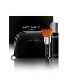 MARC INBANE Travel Set Luskusowy zestaw spray samoopalający 50 ml + pędzel kabuki + kosmetyczka