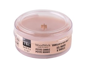 WoodWick Vanilla & Sea Salt Świeczka zapachowa 31 g