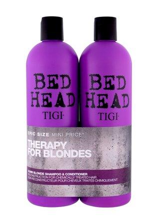 Tigi Bed Head Dumb Blonde Szampon do włosów + Odżywka Zestaw 750 ml  (1)