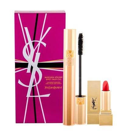 Yves Saint Laurent Volume Effet Faux Cils Tusz do rzęs 7,5 ml + Pomadka Rouge Pur Couture 1,3 ml 1 Le Rouge (1)