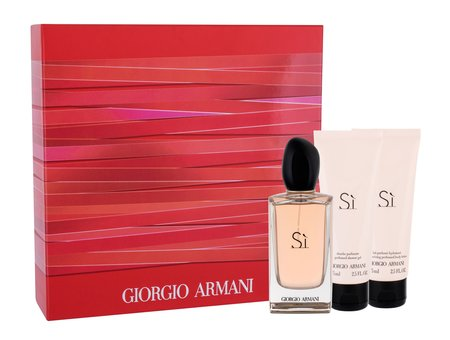 Giorgio Armani Si woda perfumowana 100 ml + Balsam 75 ml + Żel 75 ml (1)