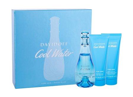 Davidoff Cool Water Woman woda toaletowa 100ml + 75ml Balsam + 75ml Żel pod prysznic (1)