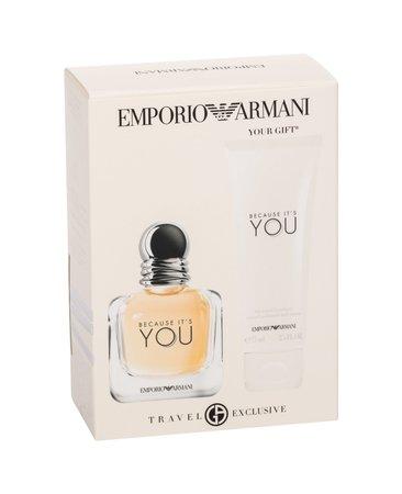 Giorgio Armani Emporio Armani Because It´s You woda perfumowana 50 ml + Mleczko do ciała 75 ml (1)