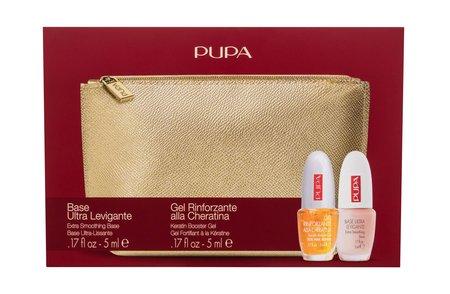 Pupa Extra Base Lakier do paznokci 5 ml +  lakier top 5 ml + kosmetyczka (1)